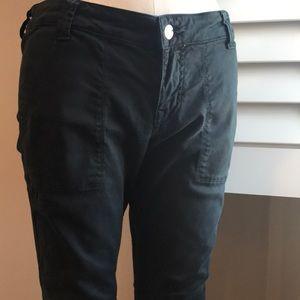 Anthropologie black skinny pants 28